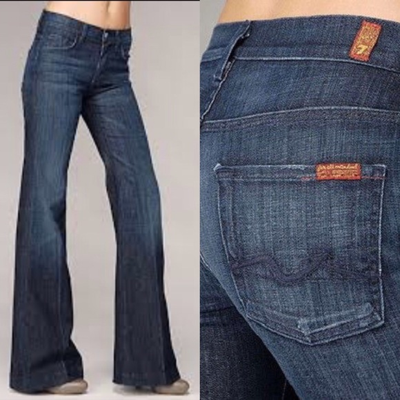 82% off 7 for all Mankind Denim - 7 For All Mankind Ginger Wide ...