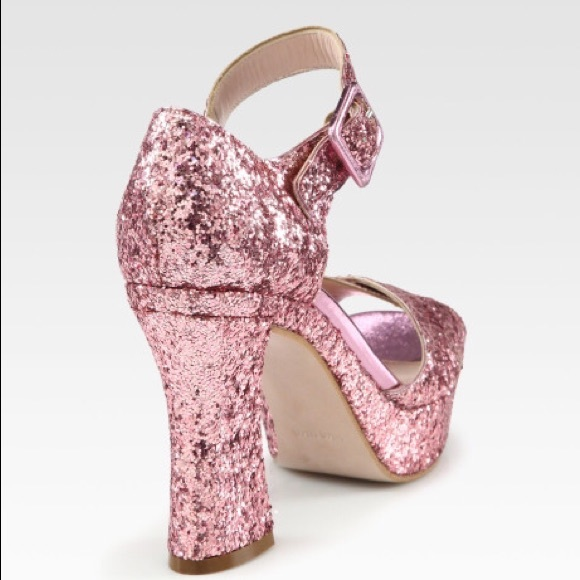 Pink Glitter Platform Heels Boots And Heels 2017