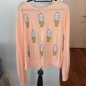 Wildfox NWT Ice Cream cone Leopard long sleeve