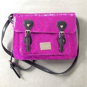 Handbags - Glittery Pink Cross Body Purse