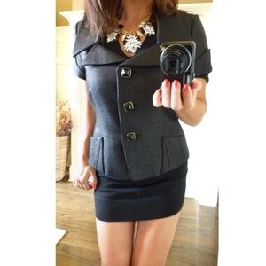 Jackets & Blazers - == TAHARI glittery black shirt blazer ==