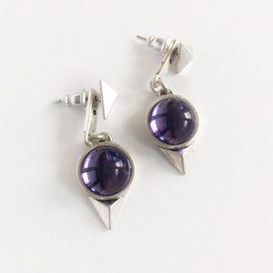 Jenny Bird Jewelry - Jenny Bird Purple Nova Drop Earrings.