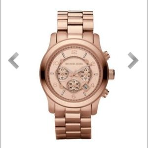 Michael Kors Rose Gold Oversized Chronograph Watch