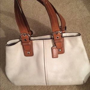 Authentic Leather Coach Bag.