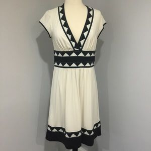 BCBG Cream V Neck Dress