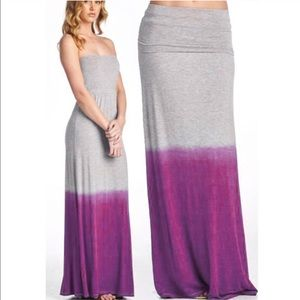 The CALYPSO 2 way maxi dress/skirt - FUSCHIA