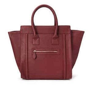 NEW F21 Burgundy Trapeze Tote