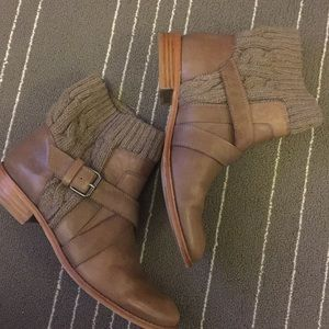 Splendid Brown Toronto leather sweater boots