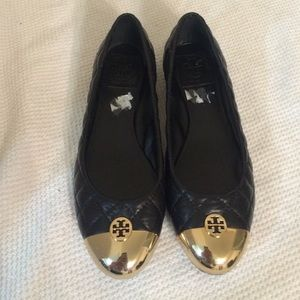 Tory burch quilted reva flats