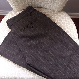Express Pants - Express Grey/ Pink Pinstriped Editor Pants