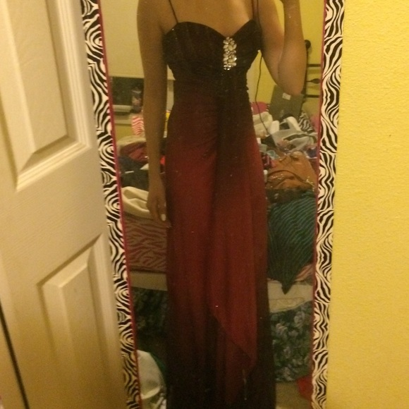 Reign Dresses Red Black Ombr Prom Dress Poshmark