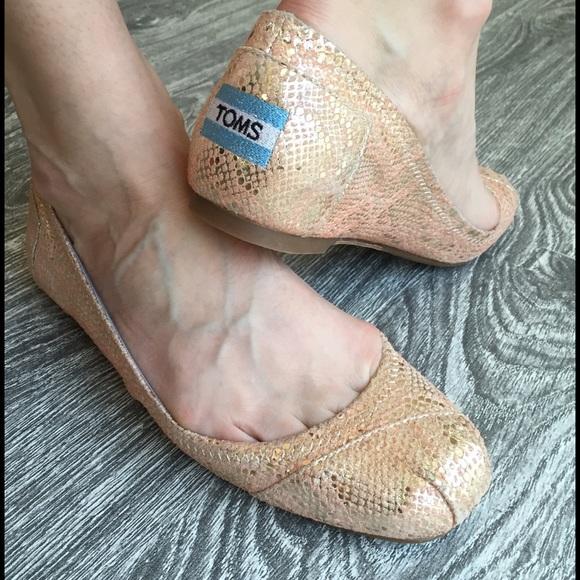 Toms Design 78 toms shoes toms exclusive design gold snake ballet