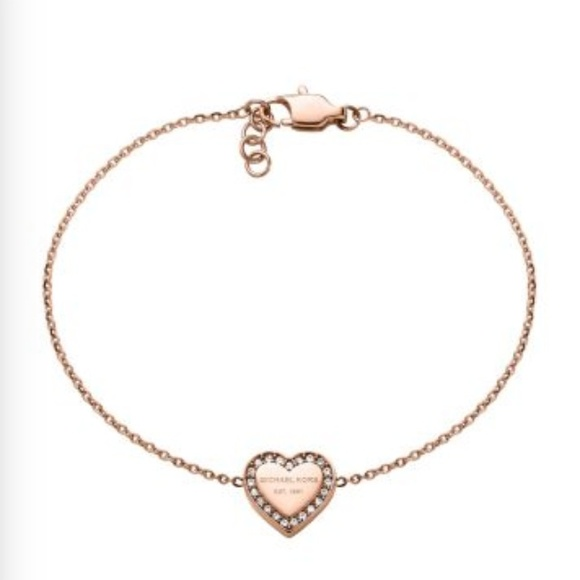 41 off Michael Kors Jewelry Authentic Rose Gold Heart Bracelet