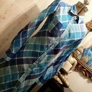 MODA INTERNATIONAL  LINEN SHIRT DRESS