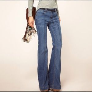 Free People Pintuck Flare Jeans size 25
