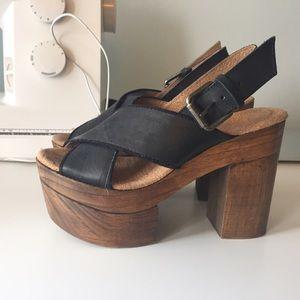 Free people plateform heels