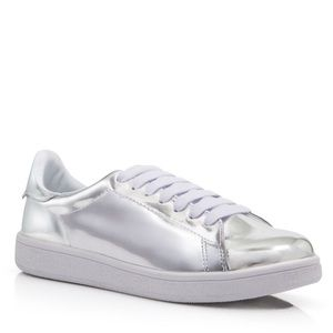 Jeffrey Campbell Shoes - 😍 HOST PICK! Jeffrey Campbell metallic sneakers