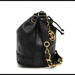 Authentic Chanel vintage bucket bag