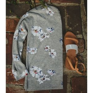 Joie Tops - Nwt joie Eloisa floral gray sweater spring 15
