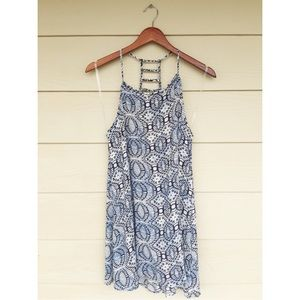 Dresses & Skirts - Blue printed sheath dress