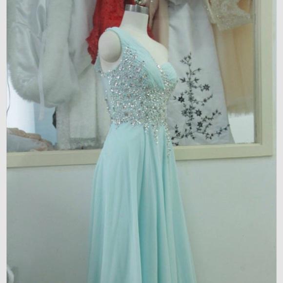 79% off Sherri Hill Dresses & Skirts - Tiffany blue prom dress ...