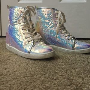 Futuristic wedge sneakers