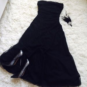 Tea Length Black Tulle Dress!