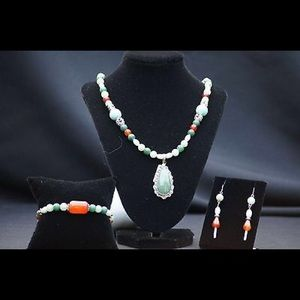 Sterling Hand Crafted Gemstone Jewelry Set