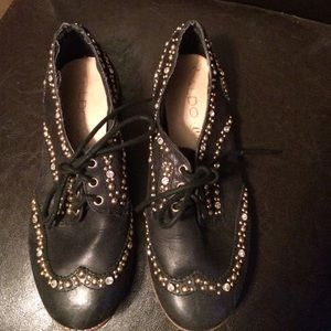 Black and gold Aldo shoes