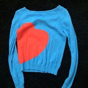 Target heart sweater