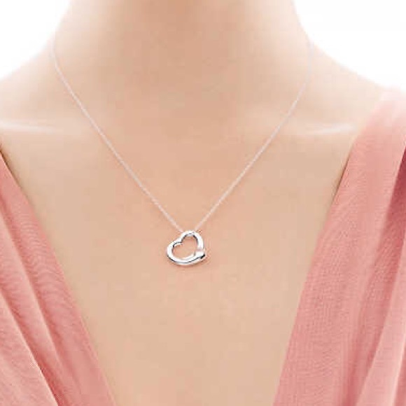 67 off tiffany co jewelry authentic tiffany open floating heart authentic tiffany open floating heart necklace aloadofball