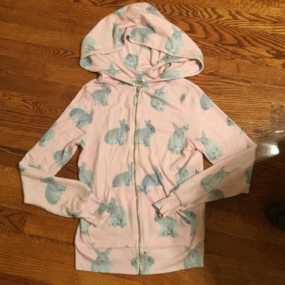 6efaa294b8df47 Rare Wildfox Pink Snow Buns Hoodie Sweatshirt S. M_552dbf61f739bc64c0000d0a