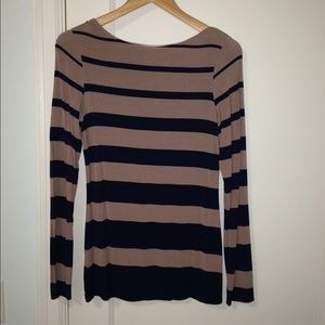 Long Sleeve Top with Stripes