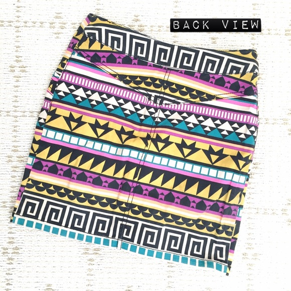 H&M Skirts - H&M Aztec graphic zip-up mini skirt