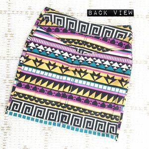 H&M Skirts - H&M Aztec graphic zip-up mini skirt