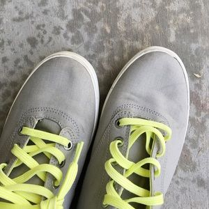 SeaVees Shoes - Light Gray and Neon Canvas Shoes