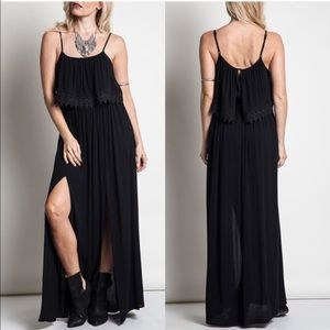 The DELAWARE side slit maxi - BLACK