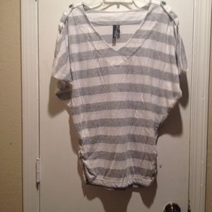 Striped slouch shirt