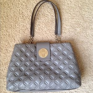 kate spade Handbags - Kate Spade Quilted Leather Purse grey