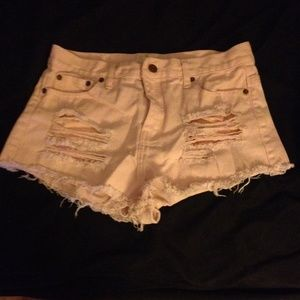 Light pink high-waisted shorts from forever 21