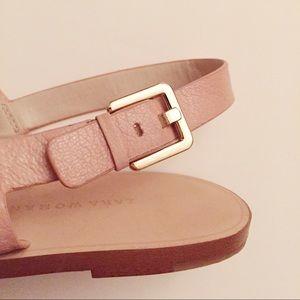 Nude Bee With Sandals Flat Zara Gold Detail PkiwuTOXZ