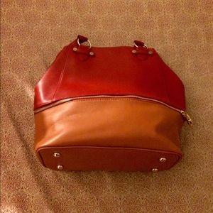 Iman red/brown purse
