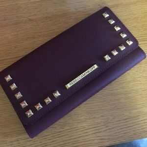NWT Madison travel black cherry wallet