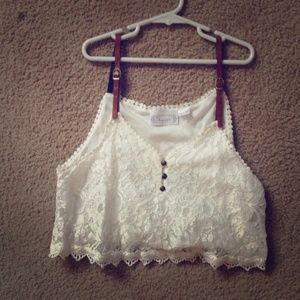 Lace crop top!