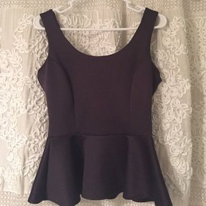 Neoprene peplum top