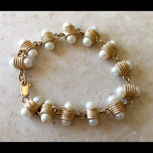 Jewelry - Vintage Pearl and 14K Bracelet