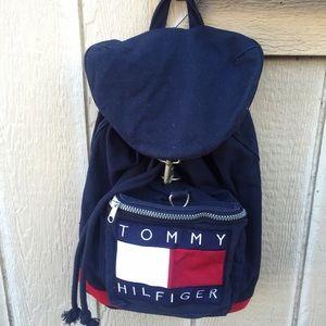 80 off tommy hilfiger handbags tommy hilfiger backpack full size bag purse from sarah no. Black Bedroom Furniture Sets. Home Design Ideas