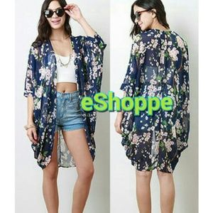 Jackets & Blazers - SALE!!! Floral Kimono Style Cardigan/Cover Up