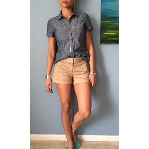 J. Crew Casual Camel Shorts Size 2