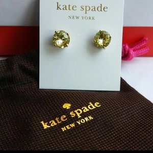 Kate Spade Light Green Crystal Stud Earrings